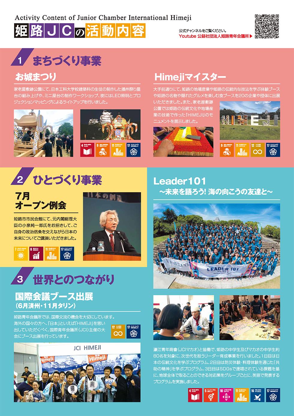 公益社団法人 姫路青年会議所 入会パンフレットページ03